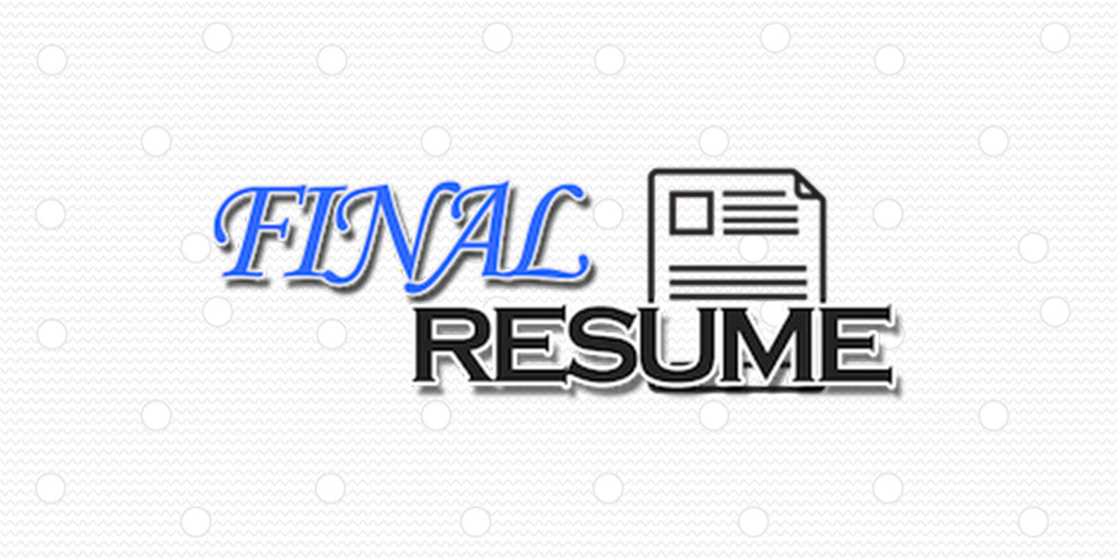 Final Resume Course